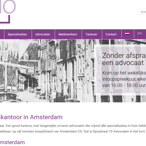 Aanpassing website Spuistraat 10 advocaten