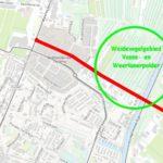 Duinpolderweg_kaartje weidevogelgebied Vosse- en Weerlanerpolder in Hillegom